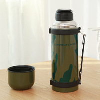 1000ML Steel Bottle Large Capacity Vacuum Thermoses Army Kettle Stainless Steel Camouflage Military Drinkware Camp Travel Mug