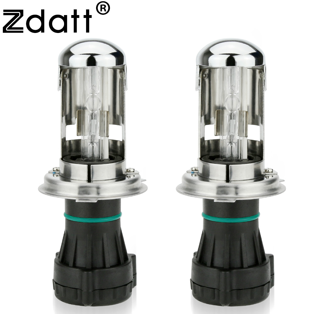 Zdatt 2Pcs HID Light H4 Hid Xenon Bulb Bi Xenon 35w Lamp Kit High Low Headlights without Ballast 4300K 6000K 8000K 2pcs 12v 35w xenon h4 2 hid xenon bulb lamp 4300k 6000k 8000k 10000k hid xenon light