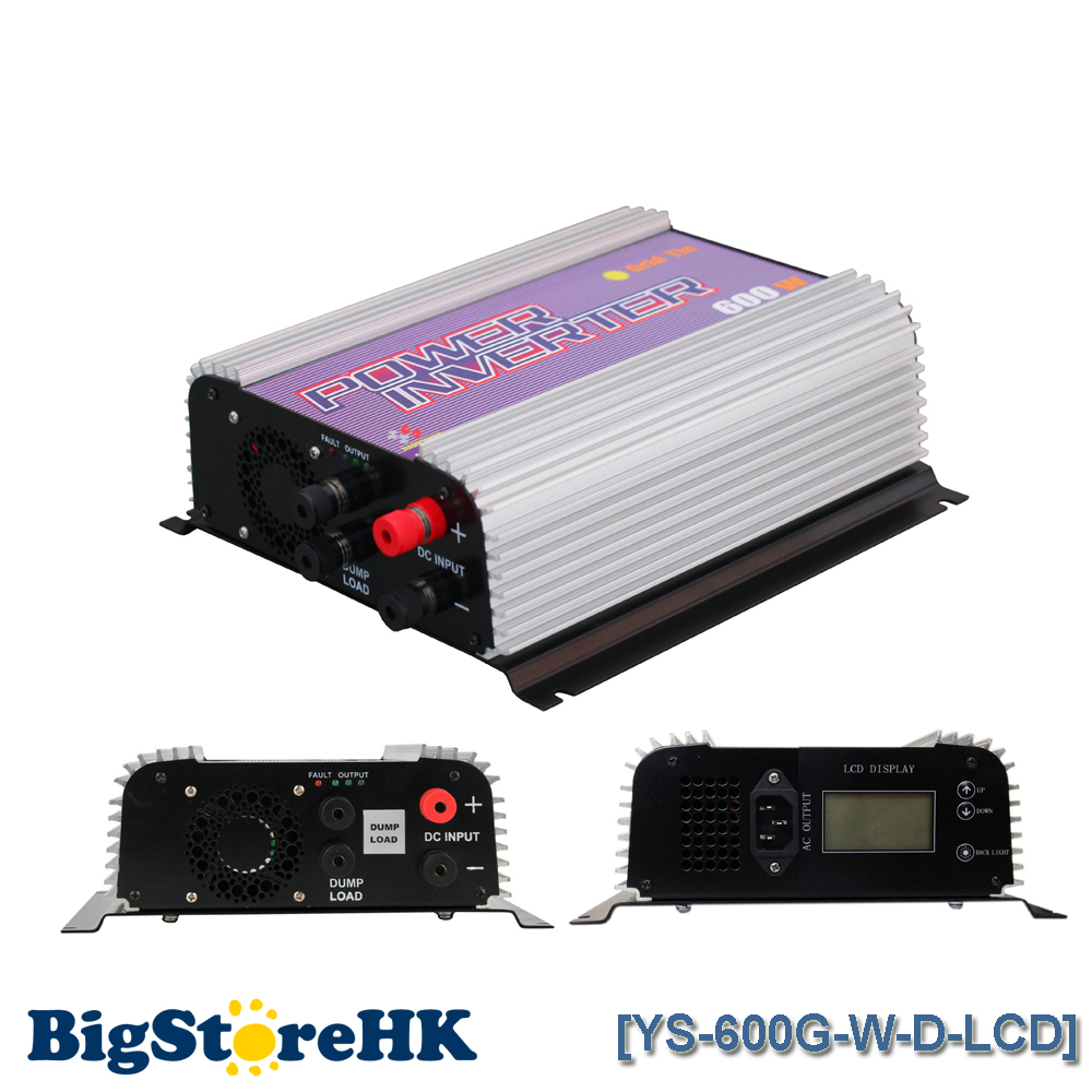 600W LCD Display Wind Turbine MPPT Pure Sine Wave Inverter for 3 Phase DC To AC Build In Dump Load Controller white 300w 12v vertical wind turbine generator kit with mppt hybrid controller and 1000w pure sine wave inverter
