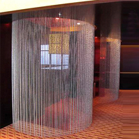 One Set Indoor Decorative Acrylic Crystal Glass Bead Curtain, Wedding Supplies Festive Stage Background Decoration