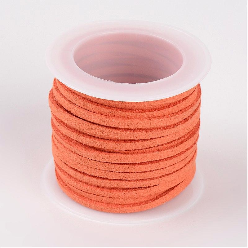 3x1.5mm Flat Faux Suede Cord, about 5m/roll,Orange,Yellow,Sienna,Dark Red,Purple ,ilac,Blue,Teal,Aquamarine,Pink,Pale Turquoise