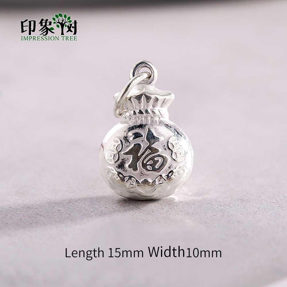 1 Pc 15x10mm 925 Sterling Silber Charme Chinesischen Glück Tasche Anhänger Für Armband Halskette Diy Schmuck Zeug 92561