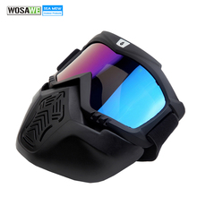 WOSAWE Snowboard Goggles Dustproof Wind Protection Men Women Big Ski Glasses with Face Mask Gas Mask Skiing Eyewear