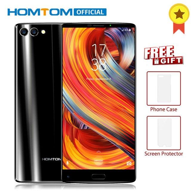 "HOMTOM S9 плюс 5,99 ""Tri-bezelless 18:9 HD + mtk6750t восемь ядер 4G RAM 64 Встроенная память две задних камеры спереди Touch ID OTG Смартфон"