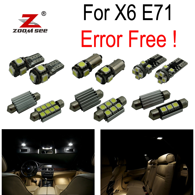 22pc X Canbus Error Free LED Reading Bulb Interior Dome Light Kit for BMW X6 E71 X6M  (2008-2016) 18pc canbus error free reading led bulb interior dome light kit package for audi a7 s7 rs7 sportback 2012