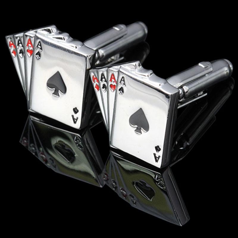 Memolissa Kotak Tampilan Manset 4a Poker Manset Pria Perancis Kemeja Manset Link Kartu Desain Atau Gratis Kain Lap Klip Tie Manset Aliexpress