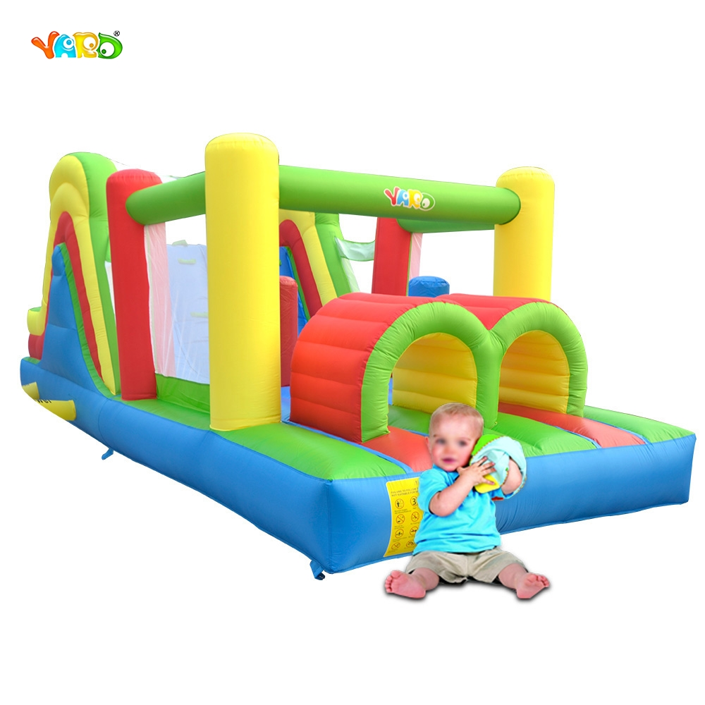 YARD Inflatable Bouncer Combo Slide Obstacle Course Jumping House Kids Trampoline Toys yard free shipping inflatable bouncer dual slide bouncy jumper giant jumping house obstacle combo for home use