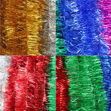 1pc 2m Christmas Xmas Tree Party Tinsel Rose Pink Green Silver Gold Red Blue Decorations
