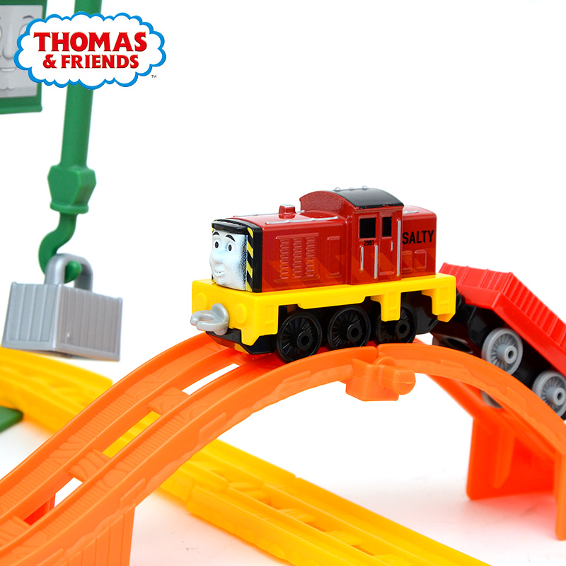Original Thomas And Friends Model Diecast Boy Train Toy Searle's Wharf Alloy Series Orbital Children Train Gift Toys