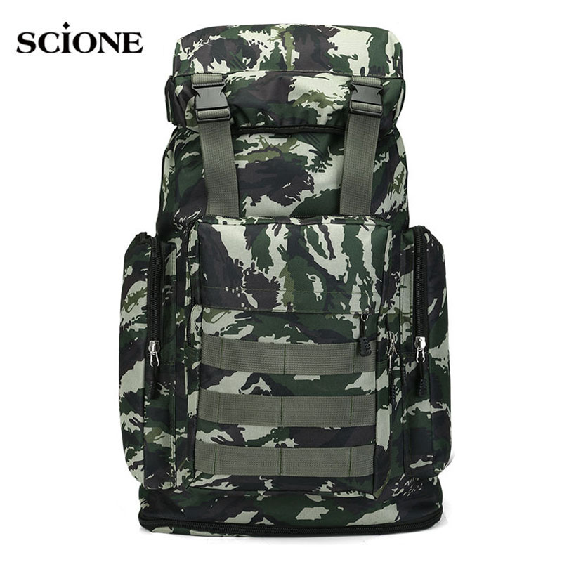Large Camping Backpack Molle Tactical Military Rucksack Outdoor Sports Bag Waterproof Hiking Hunting Backpacks Camouflage X242WA 70l outdoor mountaineering bag large capacity tactical bag military backpack camouflage molle backpack hunting camping rucksack
