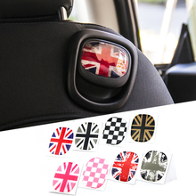 2pcs Union Jack Car Rear Seat Back Handle Decal Cover Sticker Protective For Mini Cooper JCW