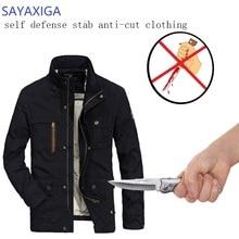лучшая цена Self Defense Tactical Jackets Anti Cut Anti-Knife Cut Resistant Men Jacket Anti Stab Proof Cutfree Security Soft Stab Clothing