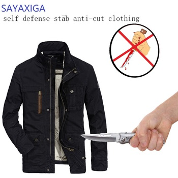 Self Defense Tactical Jackets Anti Cut Anti-Knife Cut Resistant Men Jacket Anti Stab Proof Cutfree Security Soft Stab Clothing self defense anti cutting stab fashion casual jacket fbi military tactical invisible soft safety politie kleding tactico policia