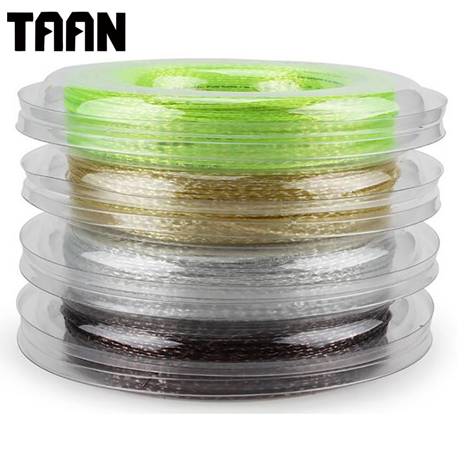 TAAN Synthetic Flash 1.3mm Tennis Racket String 200 Meters Reel Big White Tennis Strings for Durable Training Tennis 5200 free shipping geo synthetic hexagonal nylon soft tennis racket string reel tsb 03