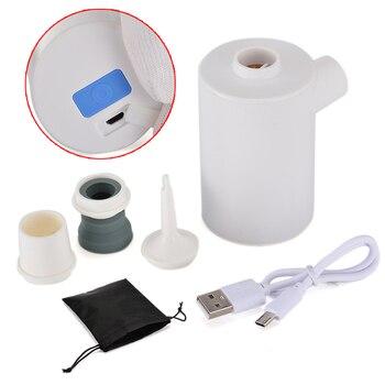 Mini pompe à Air légère en plastique USB efficace 53x53x80mm avec poids léger pour gonfler rapidement le dégonflage
