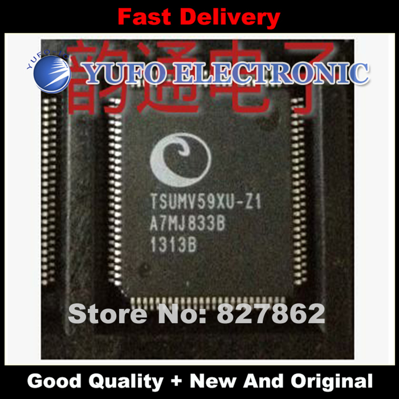 Free Shipping 5PCS [-] TSUMV59XU-Z1 (square) LCD driver chip [Penhold] a lot of cash (YF1024)