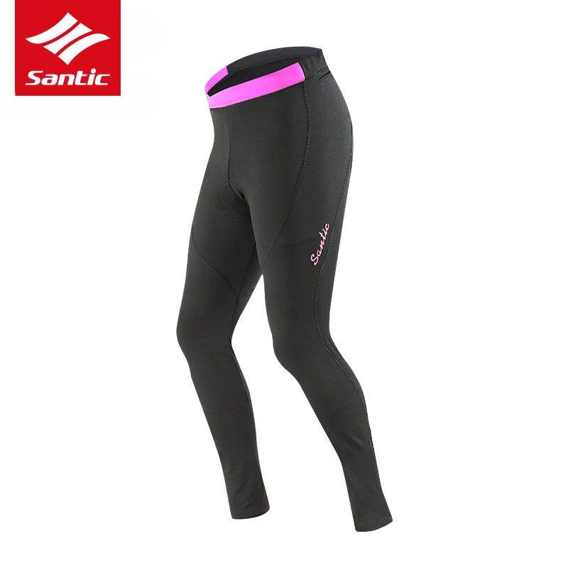 Сантич женщин брюки Велоспорт 4D хлопка-ватник Осень Зима MTB Дорожный велосипед брюки Велоспорт длинные брюки Ропа ciclismo
