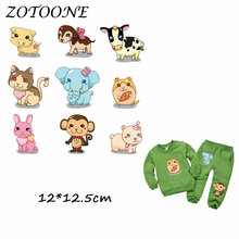 ZOTOONE Heat Transfer Clothes Stickers Animal Set Patches for T Shirt Jeans Iron-on Transfers DIY Decoration Applique Clothes C 50pcs wholesale bird heat transfers iron on patches for coat jeans t shirt clothes decorative diy craft stickers applications