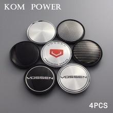 KOM 4pcs/lot 63/58mm clip wheel cap no logo emblem sticker cover hubcaps universal center for vossen rotiform