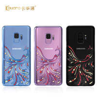 Original Kingxbar For Samsung S9 Case Luxury Plated PC Crystals From Swarovski Rhinestone Case For Samsung Galaxy S9/ Plus Cover