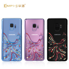 Oryginalny Kingxbar diamentowe etui do Samsung S9 przypadki luksusowe Plated PC kryształy Rhinestone etui do Samsung Galaxy S9 Plus okładka