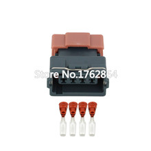 цена 10PCS 4 Pin Female DJ7045Y-3-21 Mass Air Flow Sensor Connector AMP Tyco Plug Electrical Sealed Auto Connector онлайн в 2017 году