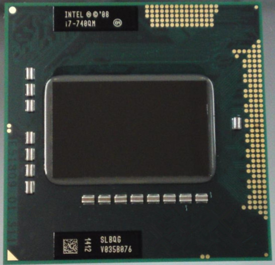 Original Core I7-740QM Processor PGA988 Laptop CPU Compatible PM55 HM55 QM57 6M Cache, 1.73GHz to 2.93Ghz, I7 740QM, SLBQG