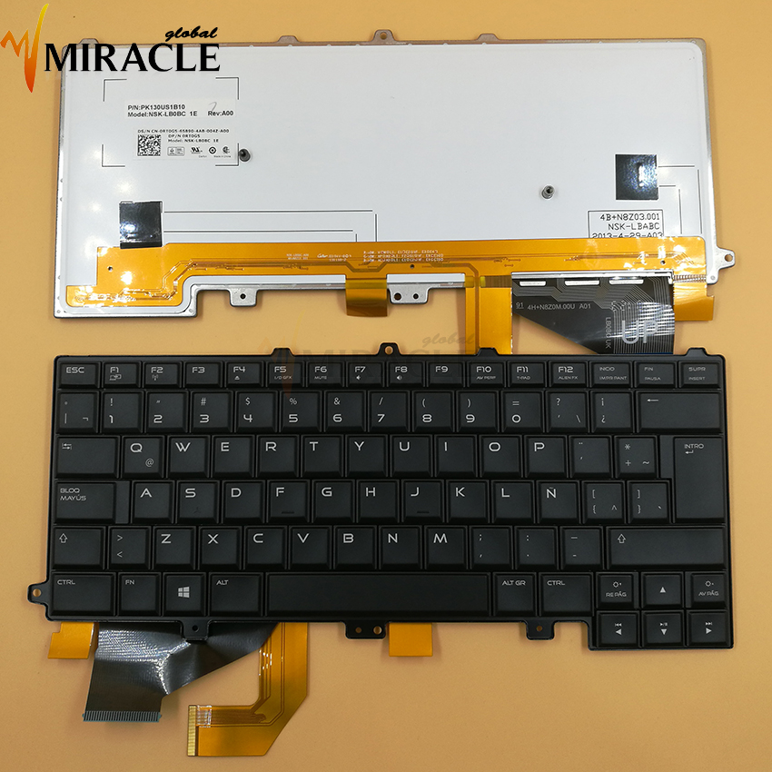 Friendly Repair You Life Laptop Keyboard For Dell Alienware M14x R4 Keyboard La/sp Latin Layout With Backlit Black Color Original And Digestion Helping