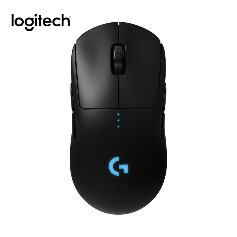 Original logitech g pro sem fio superior gaming mouse lightspeed para esports hero16k sensor rgb iluminação de carregamento sem fio duplo