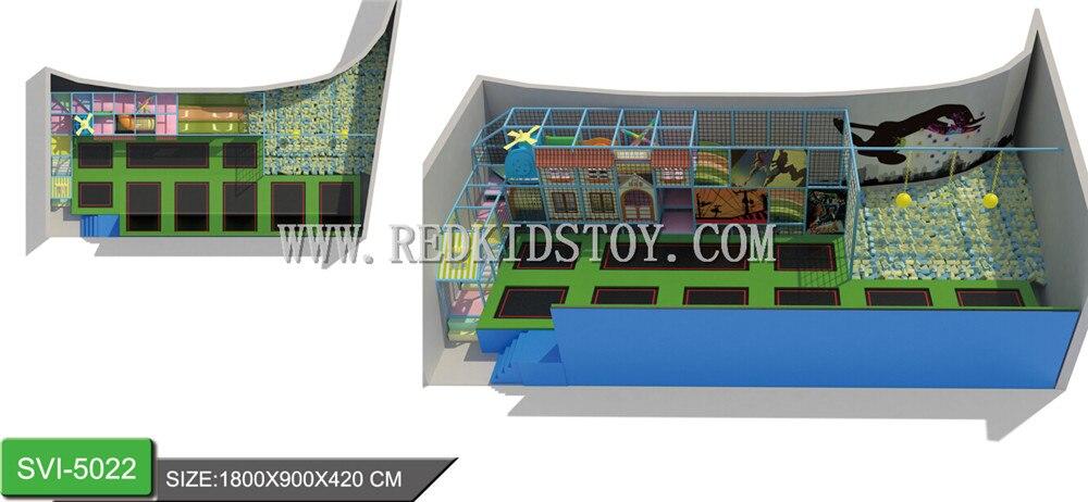 Parc de Trampoline de prix usine CE HZ-LG036 de parc de Trampoline Commercial d'intérieur certifié