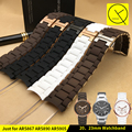 Rubber Silicone WatchBand for Armani AR5905 AR5920 AR5858 AR5921 AR506 AR5890 AR5868 Sport Watch Strap Butterfly Buckle 20mm23mm