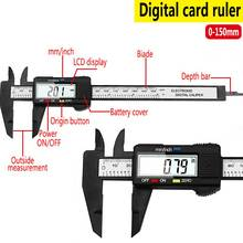 все цены на 150mm 6inch LCD Digital Electronic Vernier Caliper Plastic Fiber Gauge Micrometer Measuring Tool Diameter Top Measure Instrument онлайн