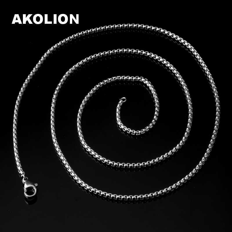 2.5 MM średnica klasyczny łańcuch podstawowy karabińczyk łańcucha naszyjnik moda biżuteria naszyjniki i wisiorki