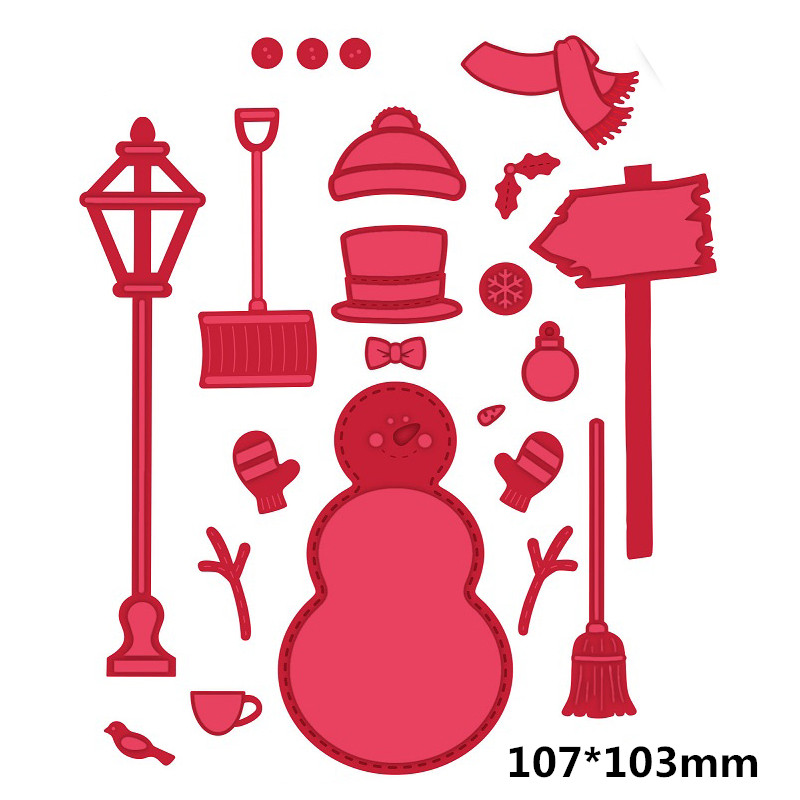 Winter Snowman Metal Cutting dies for Scrapbooking Album Handcrafts Embossing DIY Christmas Card Making Stencils New 2019 in Cutting Dies from Home Garden