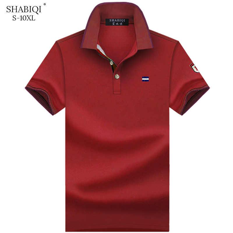 Verão 2020 marca polo camisa masculina casual manga curta bordado polo camisas para homem respirável plus size polos de algodão 6xl-10xl