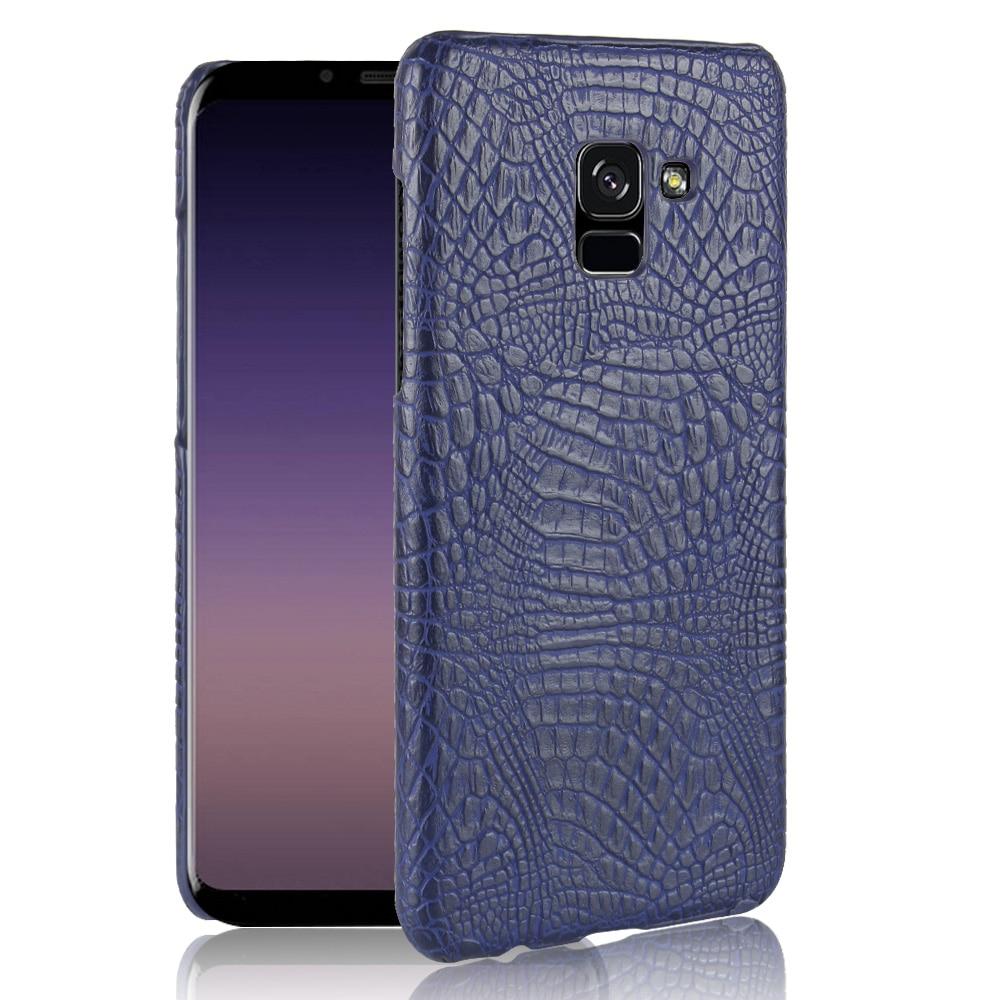 For Samsung Galaxy A8 Plus Case Luxury Crocodile Skin Hard Cover