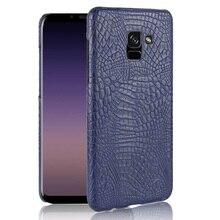 For Samsung Galaxy A8 Plus Case Luxury Crocodile Skin Hard Cover For Samsung Galaxy A8 Plus Case For Samsung A8 Plus goowiiz коричневый samsung galaxy a8 plus