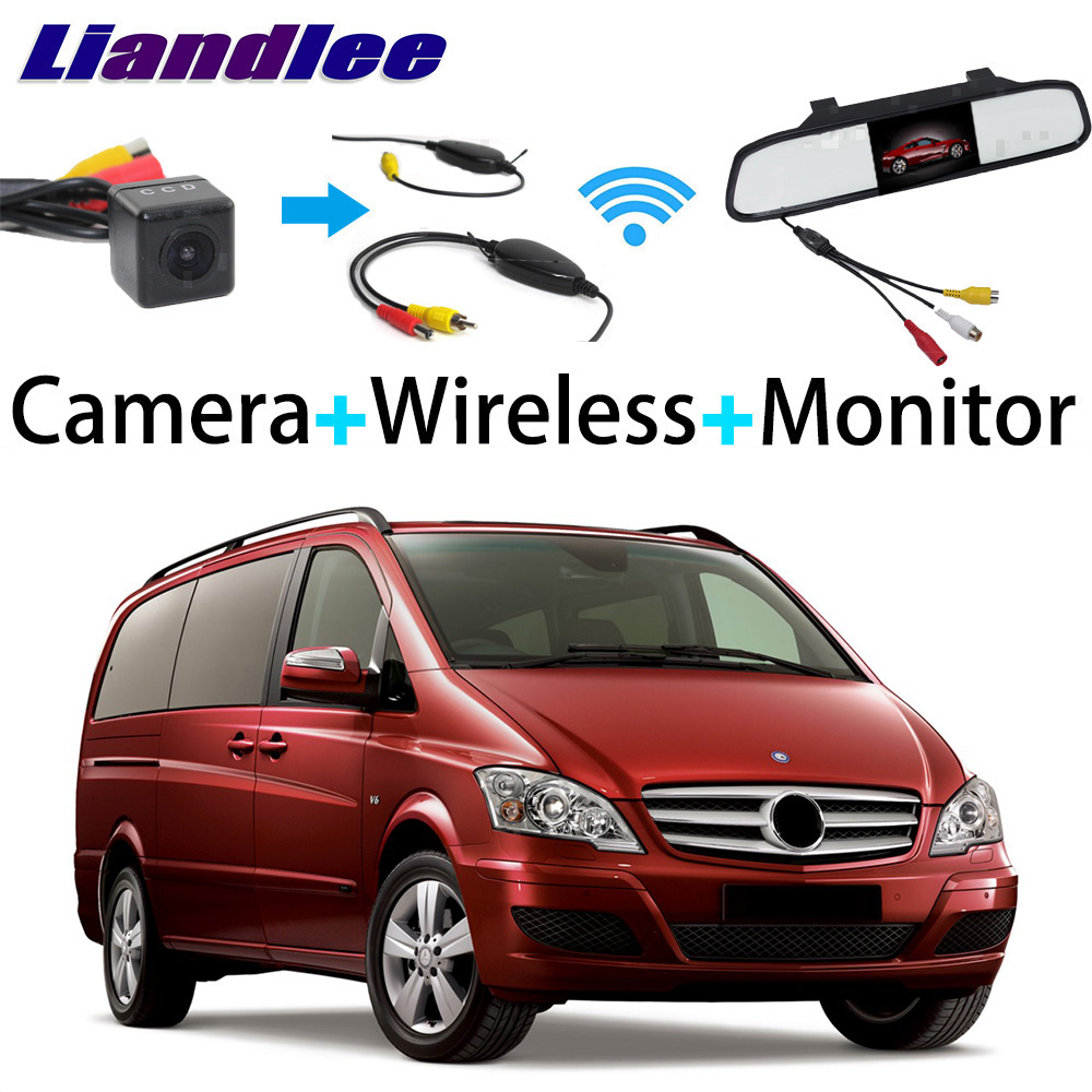 Liandlee 3in1 Wireless Receiver Mirror Monitor Special Rear View Camera For Mercedes Benz V Class / Vito / Valente / Metris liandlee 3in1 wireless receiver mirror monitor special rear view camera for mercedes benz mb w211 e350 e420 e500 e550 e55 e63