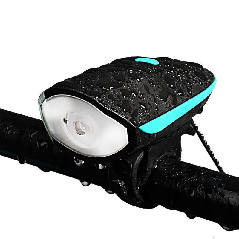 bicycle light+ bell Cycling Bike Bicycle flashlight front lights led Handlebar Ring <font><b>Horns</b></font> <font><b>horn</b></font> Electronic Alarm Bell Sound F1024