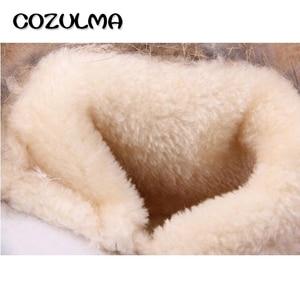 Image 5 - Cozulmaベビーキッズ冬ブーツガールズボーイズ雪のブーツ暖かいぬいぐるみウサギの毛皮の子供冬のブーツのための男の子