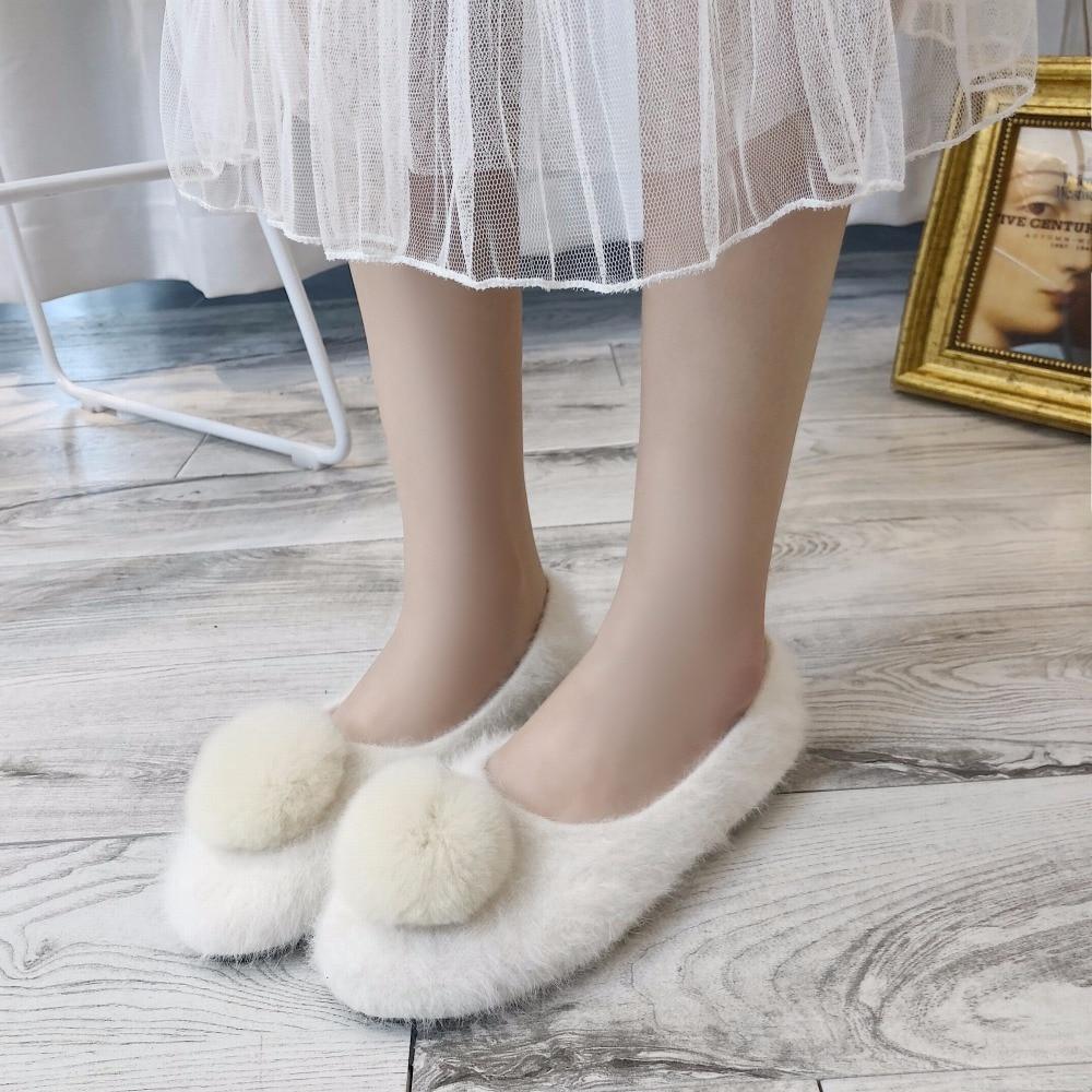 De rosado Invierno Slip Caminar Lindo Zapatos Planos Confortable 2019 Suave Mocasines caqui Las Mujer Mujeres on Moda Peludo Calzado Beige Bombillas negro La Felpa Cómodo qEwgwvd