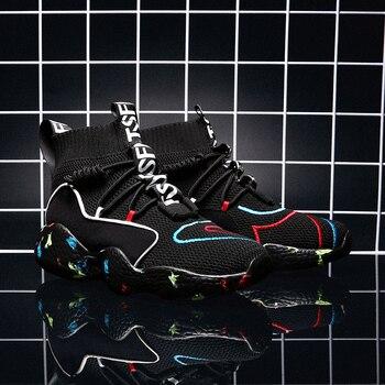 a807d31c 2019 г. модная обувь женские высокие массивные кроссовки унисекс черные и  белые ботильоны женская обувь на платформе Большие размеры 35-48