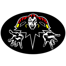 CS-893#21*14cm King and the Clown. Color bells. Full color funny car sticker decal for auto stickers styling decoration