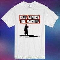 Moda hombre camiseta nueva rabia contra la máquina rap hip hop metal hombres camiseta blanca talla S-3xl