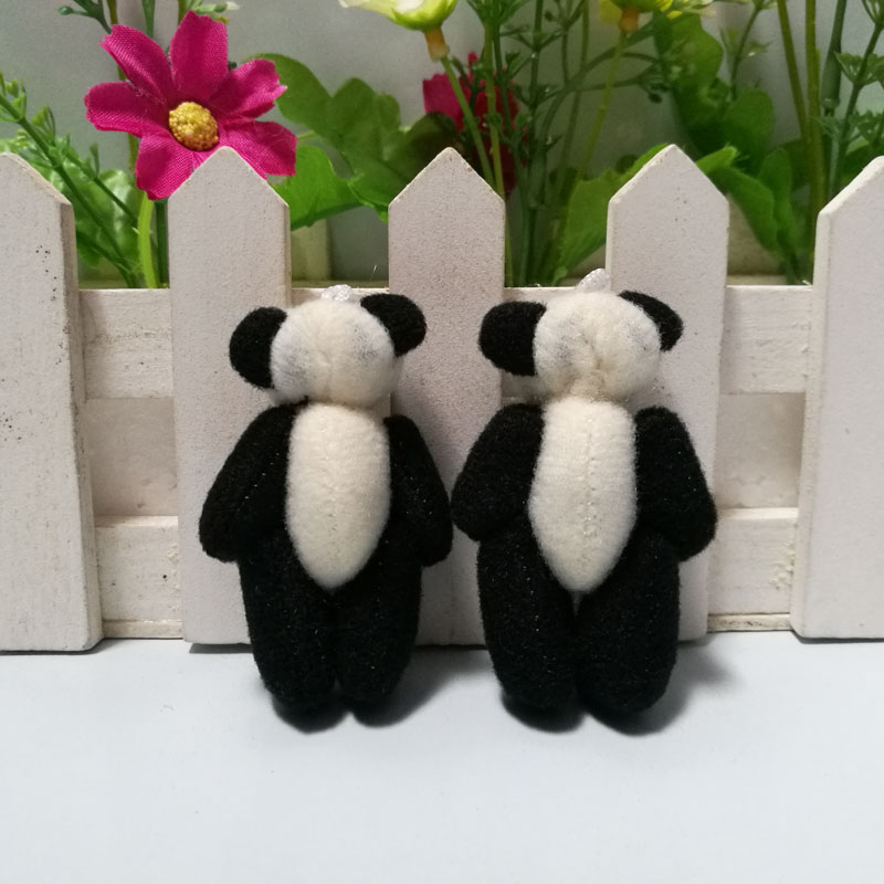 Groothandel 100 stks/partij 3.5 cm tot 4 cm Mini Gevulde Jointed Panda Pop Pluche Speelgoed, DIY Bruiloft Accessoire Panda Poppen-in Gevulde & Pluce Dieren van Speelgoed & Hobbies op  Groep 3