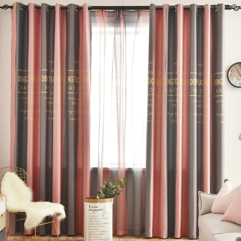 US $5.7 49% OFF 2019 Stripe Curtains for Livingroom Dining Room Blackout  Drapes Red Navy Green Yellow Cortinas Para Sala De Estar Rideaux Tende-in  ...