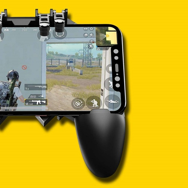Mobile PUBG Controller Turnover Button Gamepad for PUBG IOS Android Six 6 Finger Operating Gamepad Peripherals PUBG Controller
