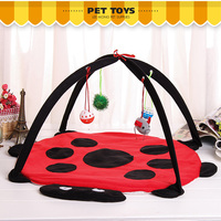 The pet cat toy tent hammock cat toy cat toy cat baseball sound scrath