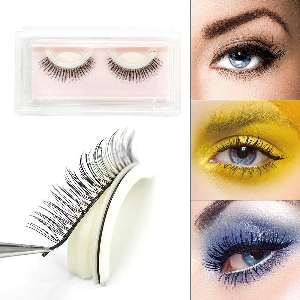 Genailish 1 Pair 3D Mink False Eyelashes Elegant Makeup Self Adhesive Fake Eye Lashes Long Natural Extension Party Eyelash Z24P