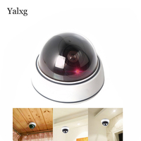 Wireless Indoor Surveillance Fake Camera Dummy Flash Blinking LED Fake Dome Security Camera Home Security CCTV
